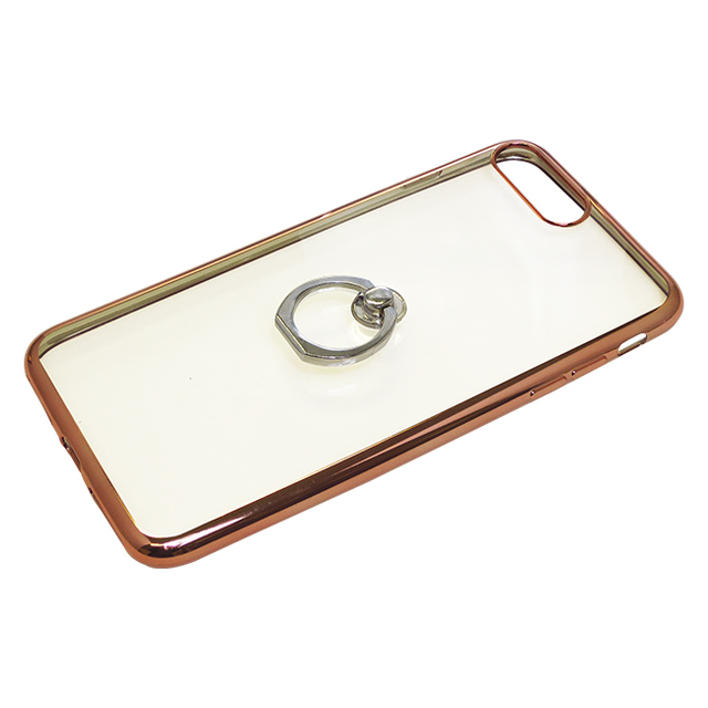 iPhone8Plus/7Plus用ジャケット リング付き サイドメッキ